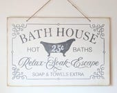 Bath House Sign | bath de...