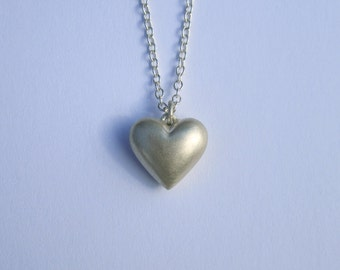 Large heart pendant etsy 20 off handmade silver heart necklace large mozeypictures Gallery