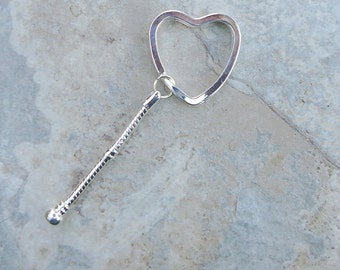 Heart Keychain for European style beads