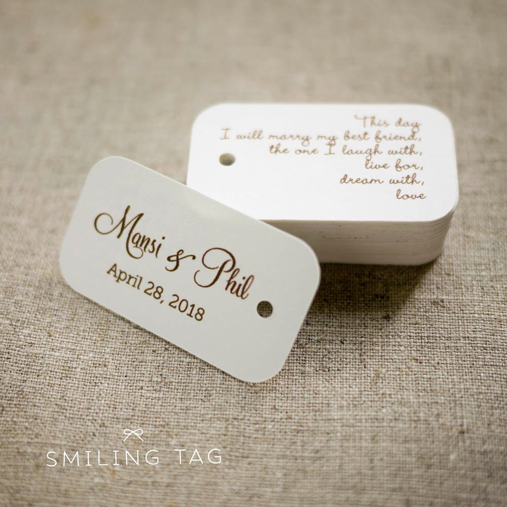 personalized wedding favor tags - Yeni.mescale.co