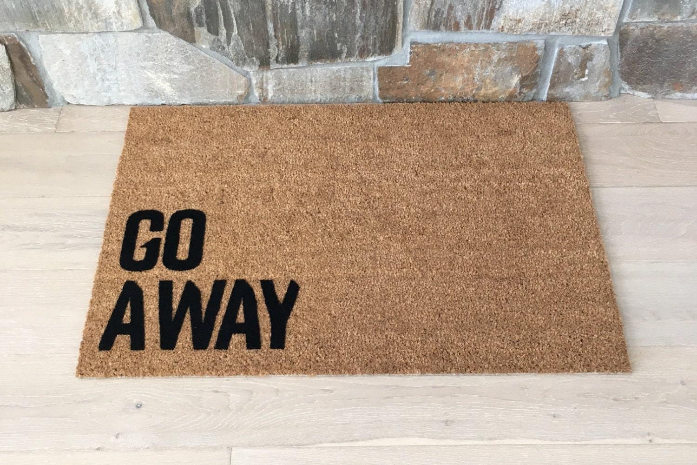 Go Away Doormat, Funny Door Mat, Creative Door Mats, Coir Doormat, Cool Door  Mats, Doorstep Mats