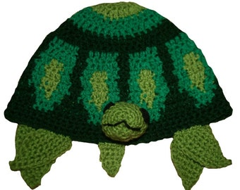 Hand Crocheted Turtle Hat HH190