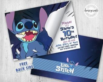 Stitched invitation Etsy
