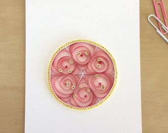 Quilling Paper Pink Grapefruit Home Decor, Greyhound Cocktail, Fruit Print, Citrus Kitchen Decor, Citrus Slice Decoration, Ruby Red Fruit