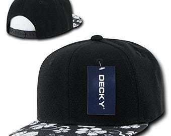 Decky Floral Hat Customize with any wording you want
