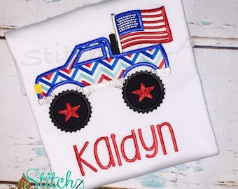 Patriotic Truck Shirt or Bodysuit