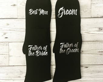Personalised Wedding Socks, Grooms Party, Groom Socks, Best Man, Usher, Father of the Bride Gifts