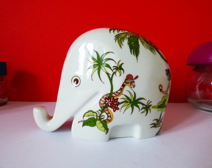 Colani Hochst ceramic Elephant money box jungle themed