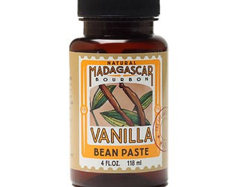 Vanilla Bean Paste, Natural Madagascar 4 oz, by LorAnn