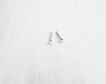Teeny Tiny Sterling Silver Stud Earrings 1.5mm