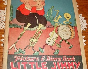 Rare Children's Picture & Story Book Little Jimmy No. 284  ~ McLoughlin Bros. 1932