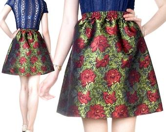 Short skirt brocade embroidery (M19)