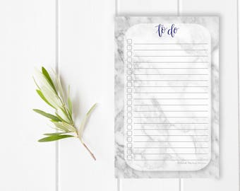 Notes Marble Girl Boss Get it Mom Stationary / Hand Lettered Notepad / Custom Notepad / To Do List / Checklist / Stationery / Small Business