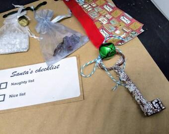CHRISTMAS EVE set, magic key, magic Santa key, Christmas eve box, Christmas, Santa's magic key, Santa's key, Santas key decorations, Santas
