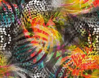 Seamless pattern 64cm Print colors abstract geometrico Digital rotating textile Rapport fashion fashion Art printable