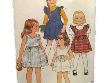 Butterick 6494 Girls Dress and Jumper UNCUT
