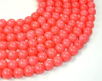 Pink Coral Beads, Angel Skin Coral, 8 mm Round Beads, 15.5 Inch, Full strand, Approx 50 beads, Hole 0.8 mm (118054004)