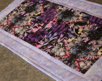 Lavender Bleeding Heart Floral 25 X 12 1/2  Table Runner Topper