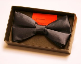 Navy Silk Bow Tie with Gift Box
