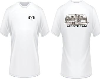Airstream trailer camper custom t shirt rv motorhome available
