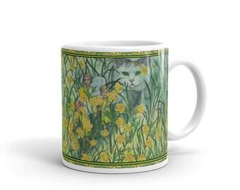 Buttercups and Cat  Mug