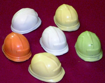 Chocolate Hard Hat cupcake toppers