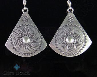 1 PAIR EARRING - Thai Karen Hill Tribe Handmade Silver Earrings 53mm KEA106