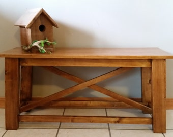 Rustic entryway bench, Rustic wood benches, Entryway Bench, Wooden Bench, Farmhouse Bench, Entry Bench