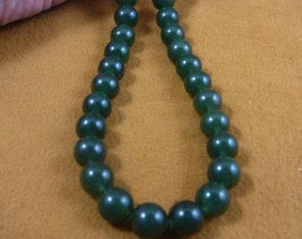 20 inch long light dark Jade round Beads bead beaded Necklace jewelry V308-13-20