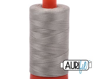 Aurifil Italian Threads-100% Cotton 40wt Piecing and Applique-Large Spool 1092 Yards-5021 Light Grey