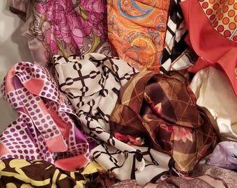 LOT of 12 vintage scarves