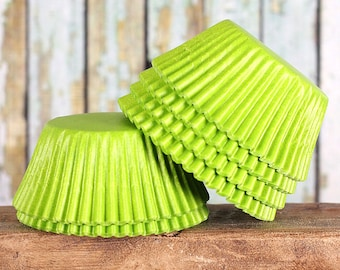 Lime Green Cupcake Liners, Lime Green Baking Cups, Lime Green Cupcake Wrappers, Lime Baking Cups, Lime Cupcake Liners, Lime Muffin Papers