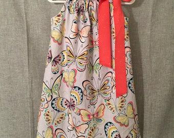 pillowcase dress, little girls dress, summer dress, toddler dress, butterfly dress, little girls gift