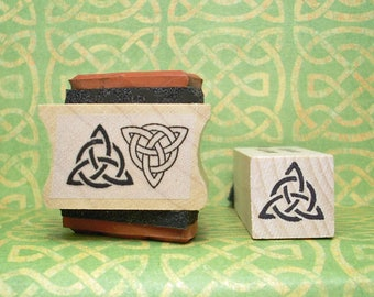 Celtic Triquetra Rubber Stamp Set of 3 with 2 Sizes