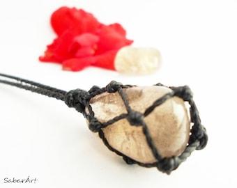 Smoky Quartz necklace, Smokey Quartz necklace, smoky quartz pendant, smokey quartz pendant, mens necklace, smoky topaz, mens pendant, mans