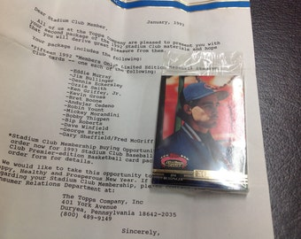 1992 Topps stadium club limited edition members only