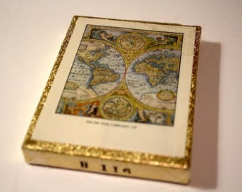 Vintage Antioch Publishing Co. Antique World Map Library Bookplates | 30 Labels Sealed in Box
