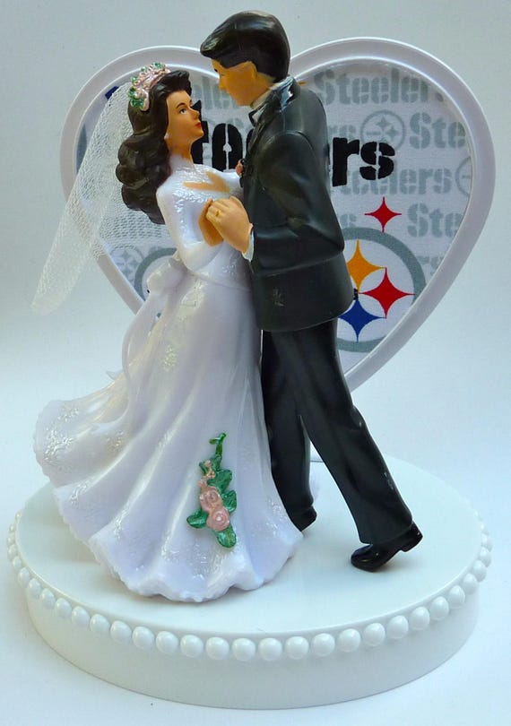 pittsburgh steelers wedding cake topper wedding cake topper pittsburgh steelers themed football 18624