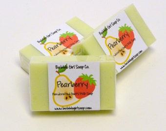 Pearberry Mini GUEST BAR SLS Detergent Free Handmade Goats Milk Soap