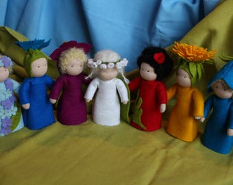 Flower Children //Flower Doll //Root Children //Mother Earth //Miniature Doll //Waldorf Doll Nature // Table Nature //Season Table