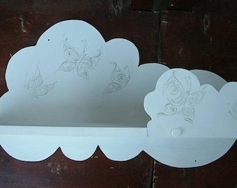 Shelf Decorative cloud shelf White wall shelf Handmade home decor