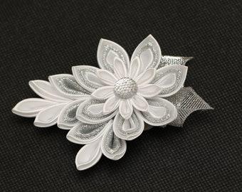 Handmade School/ Party/ Wedding/ Christening Girls / Ladies Flower Hair clip, KANZASHI