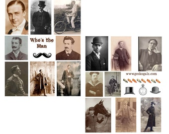 Who's The Man Digital Collage Sheets