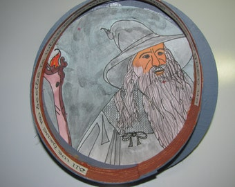 Hand Drawn Illustration of Gandalf from The LORD of The RINGS by JRRT