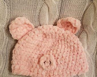 Pink Piggy Hat
