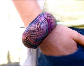 Bangle Bracelet- Animal Print Jewelry - Funky Chunky Jewelry - Chunky Jewelry