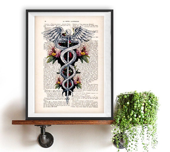 Caduceus Symbol Medical Art Medicine Rod Of Asclepius
