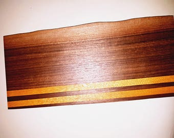 Walnut and Satinwood Serving Board