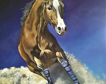Time Out  Original acrylic Horse painting gallery wrapped canvas ready to hang
