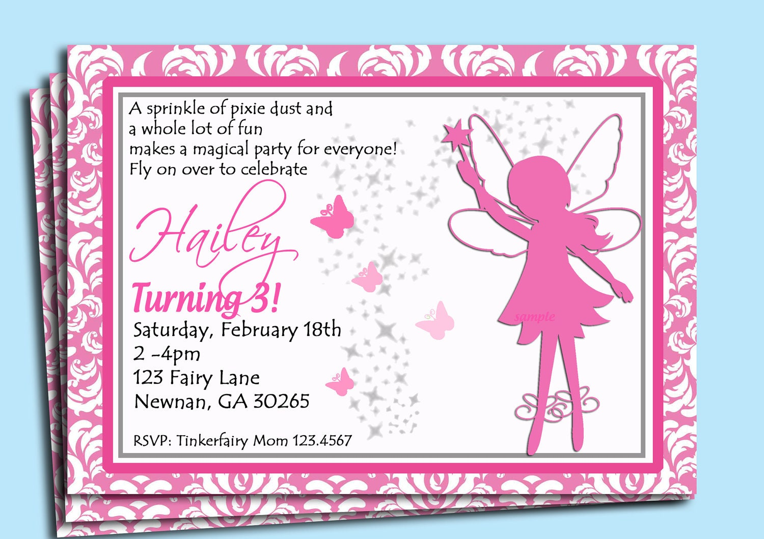 Fantastic Fairy Party Invite Images - Invitation Card Ideas ...